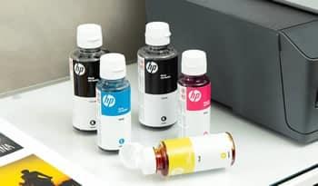 tinta na impressora HP Smart Tank 517
